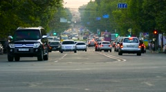 Stock Video Footage of Busy Street Traffic in Eastern Europe