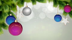 Christmas baubles Background Stock Footage