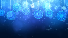 Christmas blue baubles Background - stock footage