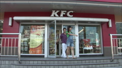 KFC, Chinese Kentucky Fried Chicken, China Stock Footage