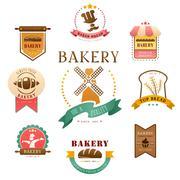 Bakery label - stock illustration