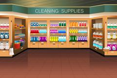 Stock Illustration of Grocery store: cleaning supply section