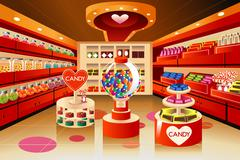 Grocery store: candy section Stock Illustration