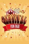 Carnival poster - stock illustration