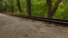 Old Train Coming Towards You Stock Footage