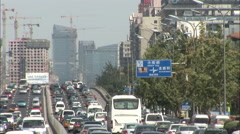 Beijing traffic congestion, China - stock footage