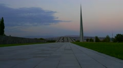 The Road to the Genocide Memorial in Armenia - stock footage