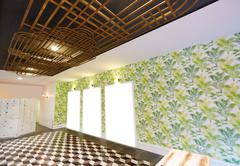 Art deco inspired salon interior Stock Photos