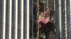 Stock Video Footage of Construction Elevator, Beijing, China