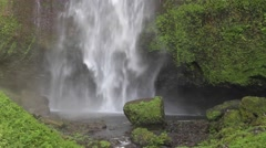 Beautuful Waterfall Oregon pool and Close Up view of rocks Stock Footage