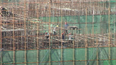 Stock Video Footage of Chinese high-rise construction site, China