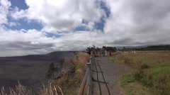 Stock Video Footage of Visitors to Kilauea National Park Hawaii