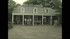 Vintage 16mm film, 1979, rock city gardens, montage Stock Footage