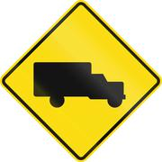New Zealand road sign - Watch for trucks Piirros