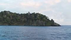 Tropical cocos island sea birds Stock Footage