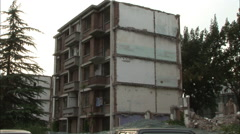 Apartments to be demolished, Beijing, China - stock footage