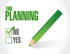 no time planning approval sign concept - stock illustration