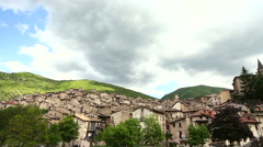 Time lapse of clouds over Scanno, a village in Abruzzo, Italy. Stock Footage