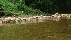 Trip of Bamboo rafting in the tropical forest in Khao Lak, Stock Footage