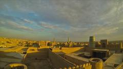 Evening panorama of Khiva Stock Footage