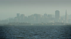 Stock Video Footage of Hazy San Francisco Bay and Cityscape