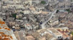 Focusing Matera, Sassi, Puglia, Italy. Stock Footage