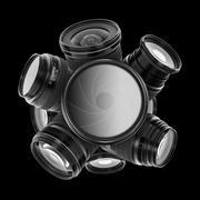 Digital camera lenses Stock Photos