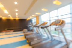 Stock Photo of Fitness club blur background