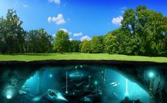 Extraterrestrial civilization Stock Illustration