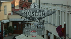 Film Special Effects Museum poster in Prague Stock Footage