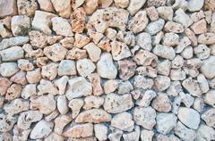 Drystone wall background texture - stock photo