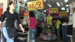 Beijing clothes shopping, China Stock Footage