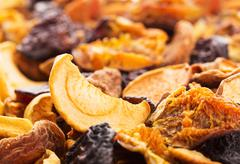 Dried bits of  fruits Stock Photos