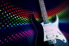 Electric guitar closeup picture Stock Photos
