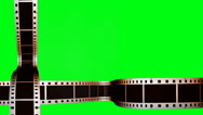 Stock Video Footage of Animated horizontal and vertical filmstrips on a green screen