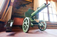 Old World War II machine gun Stock Photos
