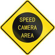 Speed Cameras warning sign in New Zealand Piirros