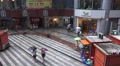 Courtyard Of Chinese Shopping Center On Rainy Day Footage