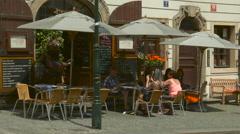 Restaurace U Čerta on Nerudova Street, Prague Stock Footage
