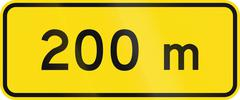 Stock Illustration of New Zealand road sign - 200 metres ahead