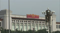 Stock Video Footage of History Museum, Tiananmen Square, China