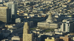 Aerial view San Francisco California USA City Hall history Americas - stock footage