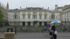 Old Schools, University of Cambridge, Cambridge, Cambridgeshire, UK. - stock footage