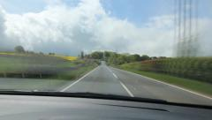 Time lapse of driving in the Somerset countryside. Somerset, England. Stock Footage
