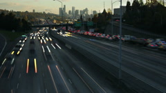 Freeway, Time Lapse, Traffic, I5, Seattle, Rush Hour Stock Footage
