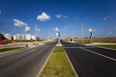 the road.  construction - stock photo