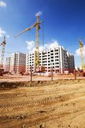 building  high-rise construction - stock photo