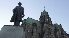Statue of Sir Wilfrid Laurier (1841-1919) Ottawa Stock Footage