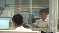 Workers in modern office, Beijing, China - stock footage