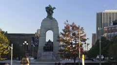 The National War Memorial at the Confederation Square in Ottawa Stock Footage